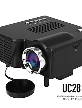 cheap Best for APP-UC28 LED Mini Projector 320x240 Pixels Supports 1080P HDMI USB Audio Portable Projector Home Media Video Player Beamer UC28 VS YG300