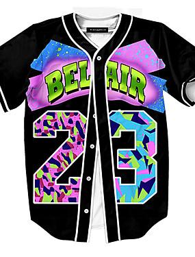 levne Týmové sporty-Pánské Baseballový dres Sportovní Módní Polyester Vrchní část oděvu Krátký rukáv Sportovní oděvy Prodyšné Rychleschnoucí Pohodlné Fialová
