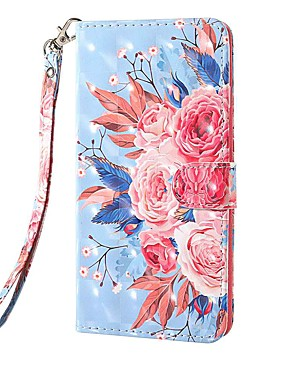 cheap Other Phone Case-Case For Nokia Nokia 1.3 Nokia 2.3 Nokia 3.2 Wallet Card Holder with Stand Full Body Cases Color Flower PU Leather TPU for Nokia 6.2 Nokia 7.2