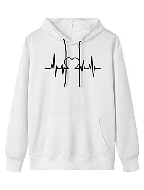 cheap Women's Clothing-Women's Pullover Hoodie Sweatshirt Graphic Daily Weekend Basic Casual Hoodies Sweatshirts  White Black Blue