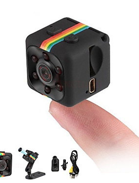 cheap Best for APP-HD 1080P Mini Camera SQ11 Full 2.0 mp Camcorder Night Vision Sports DV Video Recorder Small Camera Infrared Night Vision Security Camera Support 32G TF Card for Home Car Office Indoor and Outdoor