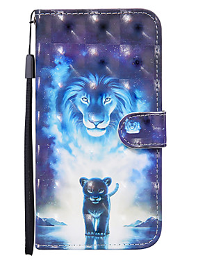 cheap Other Phone Case-Case For Nokia Nokia 1.3 Card Holder   Flip   Pattern Full Body Cases Animal PU Leather