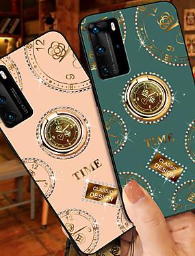 cheap Huawei Case-Case For Huawei Huawei Nova 6 6SE 7 7P 7SE P20 P20P P30 P30 Pro P40 P40 Pro P40 Pro Shockproof Ring Holder Pattern Back Cover Geometric Pattern TPU