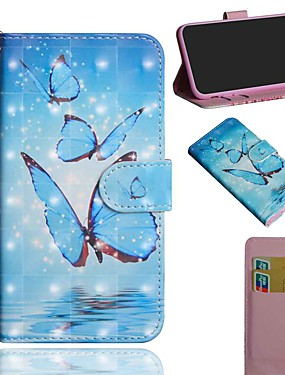 cheap Other Phone Case-Case For LG Stylo 5 LG K61 LG K41S Wallet Card Holder with Stand Full Body Cases Three Butterflies PU Leather TPU for LG K40S LG Q70 LG K30(2019) LG K40 LG K50