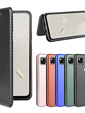 cheap Other Phone Case-Case For Google Pixel 3 Pixel 3XL Pixel 3A Pixel 3AXL Pixel 4 Pixel 4XL Pixel 4A Wallet  Shockproof Magnetic Full Body Cases Solid Colored Carbon Fiber TPU