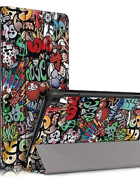 billige Etuier/deksel til Kindle-etui til amazon hd 8 (2020) hd 8 plus (2020) vipp ultratynne magnetiske helkroppssaker graffiti pu skinnveske til amazon hd 8 (2020) hd 8 plus (2020)