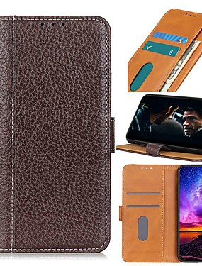 cheap Other Phone Case-Case For MOTO E6S (2020) Moto G8 Power Lite Moto Edge Plus Wallet Card Holder with Stand Solid Colored Genuine Leather Case For Moto G Power G7 Plus One hyper E6 plus One Vision P40 Power