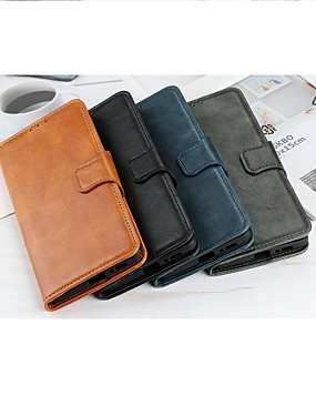 cheap Other Phone Case-Case For LG K51 Stylo 6 K61 Wallet Card Holder with Stand Full Body Cases Solid Colored PU Leather Case For LG K41S K51S V60 ThinQ 5G G9 G8X ThinQ Q70 K50S K40S K30 K20(2019) W30 W10 Stylo 5 Q60 K50