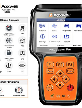 povoljno US Warehouse-foxwell nt680 svi sustavi dijagnostički skener alat za skeniranje brisanja sa uljnim svjetlom / servis resetepb funkcije ažurirana verzija nt624
