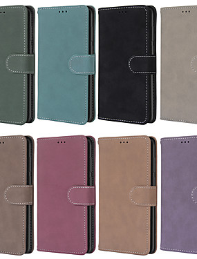 cheap Other Phone Case-Case For Motorola Moto G6 Play / Moto G7 / Moto G7 Play Wallet / Card Holder / Shockproof Full Body Cases Solid Colored PU Leather / TPU