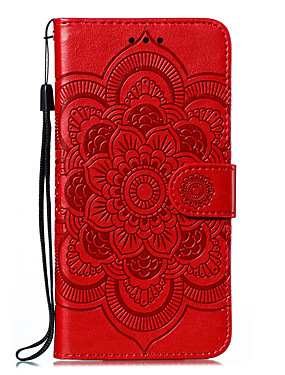 cheap Other Phone Case-Case For LG K61 / G9 / Stylo 6 / K51S / K50 / K41S Card Holder Flip Magnetic Full Body Cases Solid Colored Flower PU Leather