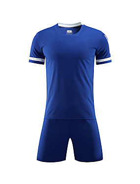 billiga Fotboll-Unisex Fotboll Shorts Tröja Träningsdräkter Tränare Mateial som andas Fotboll Enfärgad Polyester Rödvins röd Röd Blå