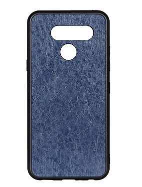 cheap Other Phone Case-Case For LG LG G8 / LG G8 ThinQ / LG Q60 Shockproof Back Cover Solid Colored PU Leather