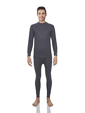 cheap Men's Underwear & Socks-thermal underwear for men waffle knite thermals men's base layer long john set [charcoal set (waffle) - xx-large]