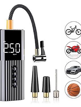 voordelige Opblaasbare pomp-nieuwe opblaasbare pomp mini draagbare luchtcompressor met led-verlichting bandenpomp 12v 60w draad luchtpomp voor auto fiets ballen