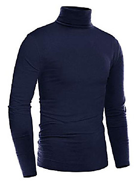 cheap Men's Underwear & Socks-pullover sweatshirts for men turtleneck long sleeve thermal underwear casual big and tall mens t shirts navy blue
