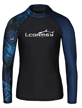 cheap Sports & Outdoors-LCDRMSY Men's Rash Guard Sun Shirt Swim Shirt SPF50 UV Sun Protection Ultraviolet Resistant Micro-elastic Long Sleeve Swimming Diving Surfing Snorkeling Painting Spring &  Fall Summer / Quick Dry