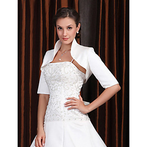cheap Wedding Wraps-Half Sleeve Coats / Jackets Polyester Party / Evening Wedding  Wraps / Women's Wrap With Embroidery
