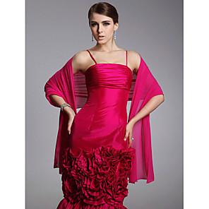 cheap Wedding Wraps-Shawls Chiffon Wedding / Party Evening / Casual Wedding  Wraps / Shawls With Draping / Solid
