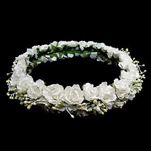 cheap Party Headpieces-Paper Flower Bridal Headpiece/ Garland