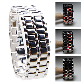 cheap Sport Watches-Men's Sport Watch Digital Stainless Steel Silver LED Digital