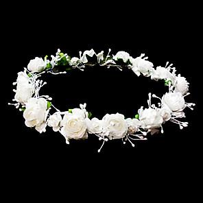 cheap Wedding Veils-Headpieces Wedding Flower Girl Wreath With Lovely Flowers