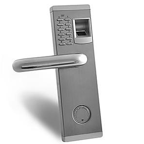 cheap Door Locks-G347 ZWX-001 Left 304 stainless steel Fingerprint Lock Smart Home Security System Home / Apartment / Hotel Security Door / Wooden Door / Composite Door (Unlocking Mode Fingerprint / Password