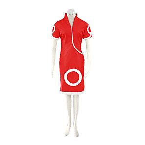 cheap Anime Costumes-Inspired by Naruto Sakura Haruno Anime Cosplay Costumes Japanese Cosplay Suits Dresses Print Short Sleeve Shorts Cheongsam For Women's