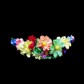 cheap Party Headpieces-Crystal / Fabric / Paper Tiaras / Flowers with 1 Wedding / Special Occasion / Party / Evening Headpiece