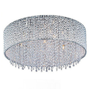 cheap Pendant Lights-QINGMING® 10-Light 57 cm Crystal / Bulb Included Flush Mount Lights Gold Modern Contemporary 110-120V / 220-240V / G9