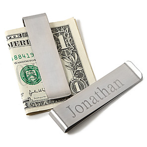 cheap Wedding Gifts-Stainless Steel Money Clips Groom Groomsman Wedding Anniversary Birthday