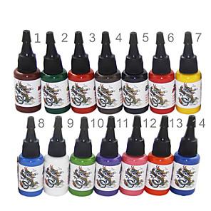 cheap Tattoo Ink-BaseKey Tattoo Ink 14 x 15 ml Professional - Multi-Color