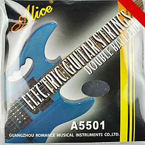 cheap Instrument Accessories-Alice - (A5501) Stainless Steel Electric Guitar Strings (010-046)
