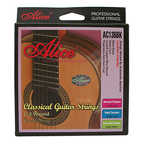cheap Instrument Accessories-Alice - (AC136BK-N) Normal Tension Classical Guitar Strings (028-043)