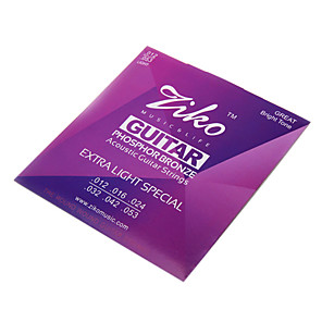 cheap Instrument Accessories-ZIKO - High-Grade Phosphorous Bronze Acoustic Guitar Strings (012-053)