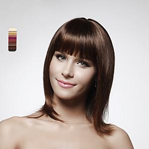 cheap Human Hair Capless Wigs-Human Hair Capless Wig Bob Short Hairstyles 2020 style Straight Wig 14 inch Women's