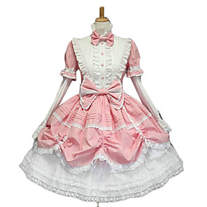 cheap Lolita Dresses-Princess Women's Sweet Lolita Gothic Lolita Classic Lolita Dress Pink Bowknot Lace Cotton Lolita Accessories / Gothic Lolita Dress / Punk Lolita Dress / Punk Lolita