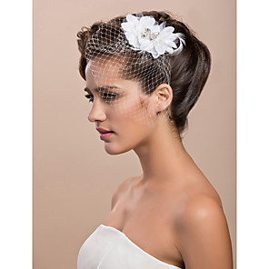 cheap Wedding Wraps-Blusher Veils / Headwear / Birdcage Veils with Floral 1pc Special Occasion Headpiece