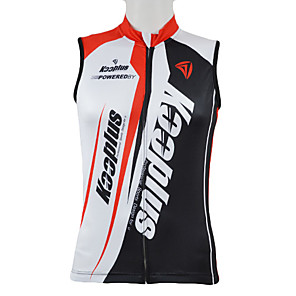 cheap Cycling Jerseys-Kooplus Men's Sleeveless Cycling Jersey Red Blue Patchwork Bike Vest / Gilet Jersey Top Mountain Bike MTB Road Bike Cycling Breathable Quick Dry Sports Clothing Apparel