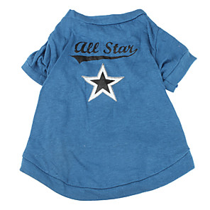 cheap Dog Clothes-Dog Shirt / T-Shirt Stars Dog Clothes Breathable Blue Costume Cotton XS S M L