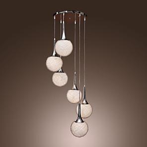 cheap Pendant Lights-1-Light 60 cm (24 inch) Mini Style Pendant Light Metal Glass Cluster Electroplated Modern Contemporary 110-120V / 220-240V