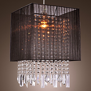 cheap Pendant Lights-1-Light MAISHANG® 32 cm (12.6 inch) Crystal / Mini Style Pendant Light Fabric Others Modern Contemporary / Drum 110V / 220-240V