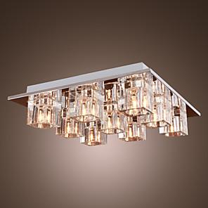 cheap Ceiling Lights-1-Light 30 cm (12 inch) Crystal Flush Mount Lights Metal Chrome Modern Contemporary 110-120V / 220-240V / G4