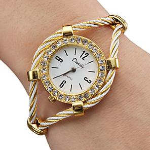 baratos Relógios de Pulseira-Mulheres senhoras Relógio de Moda Bracele Relógio Relógio de diamante Quartzo Brilhante Dourada Analógico - Dourado Um ano Ciclo de Vida da Bateria / SSUO 377