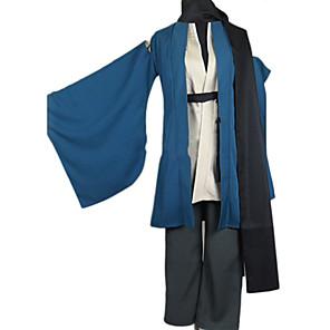 cheap Anime Costumes-Inspired by Nurarihyon's Grandson Kubinashi Anime Cosplay Costumes Japanese Cosplay Suits Kimono Solid Colored Long Sleeve Coat Pants Belt For Men's / Kimono Coat / Scarf / Scarf / Kimono Coat