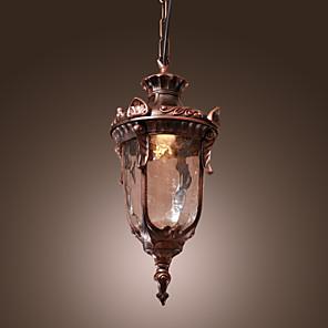 "cheap Pendant Lights-1-Light 17(7"") Mini Style Pendant Light Glass Lantern Bronze Country / Lantern 110-120V / 220-240V"