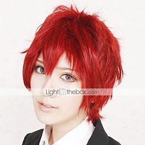cheap Synthetic Trendy Wigs-Naruto Sasori Cosplay Wigs Men's 12 inch Heat Resistant Fiber Anime Wig