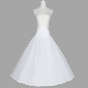 cheap Wedding Slips-Wedding / Special Occasion / Party / Evening Slips Organza / Taffeta / Tulle Floor-length A-Line Slip / Classic & Timeless with