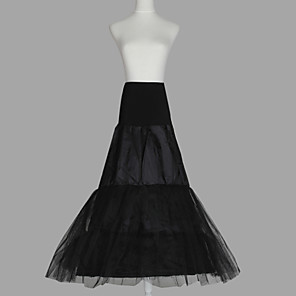 cheap Wedding Slips-Wedding / Special Occasion Slips Organza / Taffeta / Tulle Floor-length A-Line Slip with