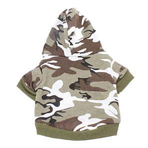 cheap Dog Clothes-Dog Hoodie Camo / Camouflage Casual / Daily Fashion Winter Dog Clothes Breathable Pink Green Costume Cotton XXS XS S M L XL